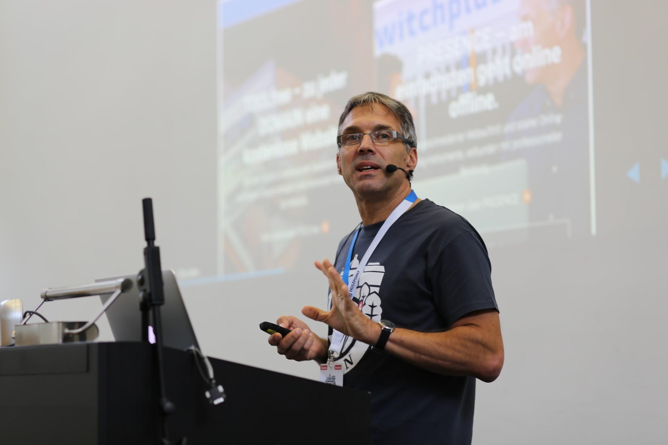 Christian at WordCamp Bern 2017